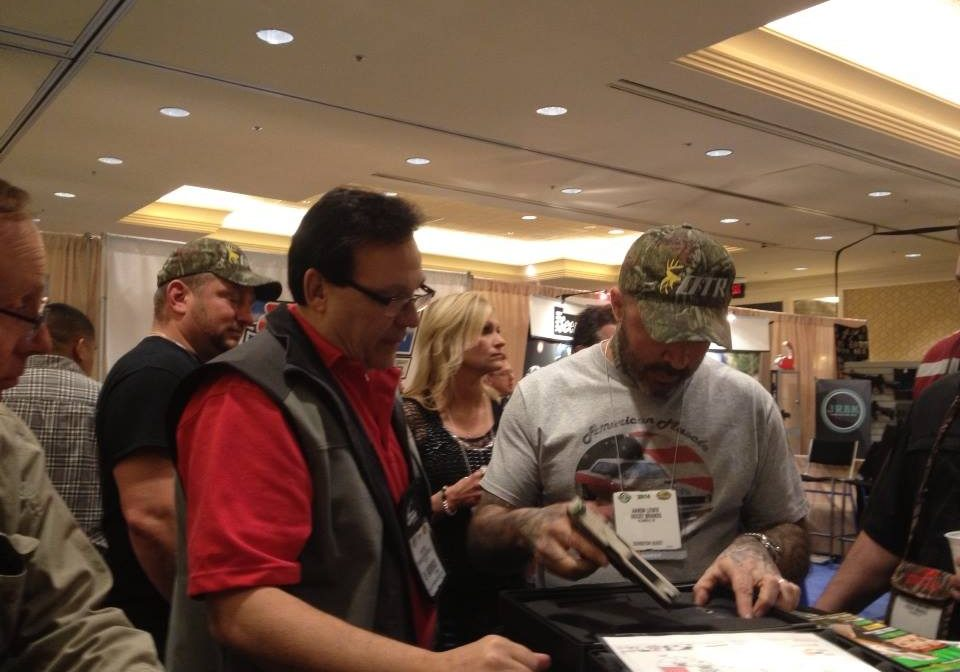 Aaron Lewis At Trade Show
